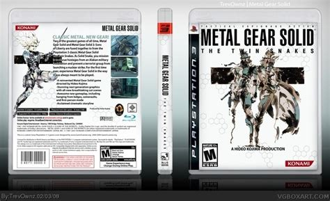 Metal Gear Solid: The Twin Snakes PlayStation 3 Box Art