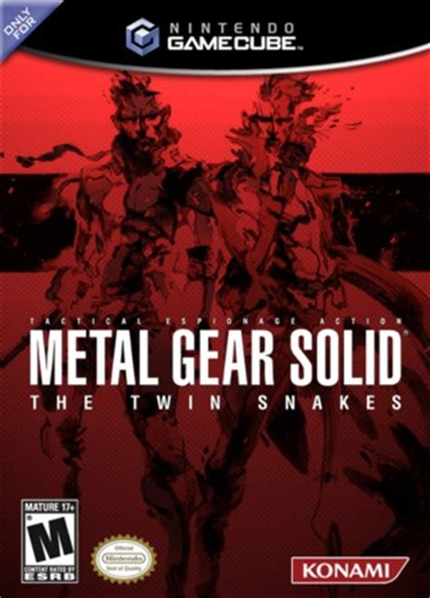 Metal Gear Solid: The Twin Snakes GameCube Box Art Cover